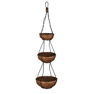 3 Tier Hanging Basket Brown