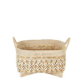 Bayu Shell Woven Basket