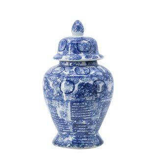 Zaro Ginger Jar Blue & White Small
