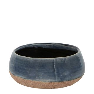 Dip Dye Ceramic Pot Small Blue