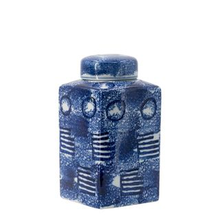 Zaro Lidded Jar Blue & White