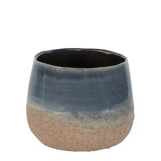 Dip Dye Ceramic Pot Large Blue