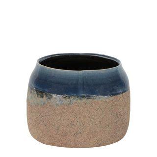 Dip Dye Ceramic Pot Medium Blue