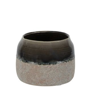 Dip Dye Ceramic Pot Medium Grey