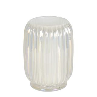 Pearl Ribbed Glass Tealight Holder Large