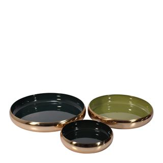 Toby Décor Brass Bowls Set of 3 Olive Forest