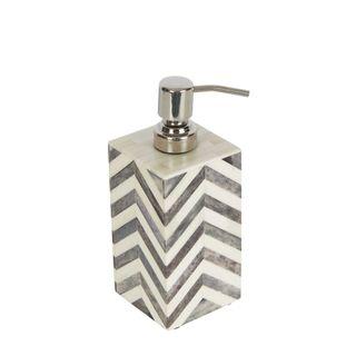 Bone Soap Dispenser White Grey