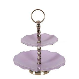 Laila Aluminium Cake Stand Lilac