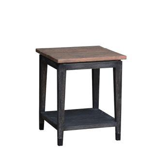 Maine Oak Side Table Black