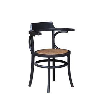 Ohio Oak Dining Chair Black