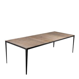Sianna Wooden Metal Rectangle Dining Table