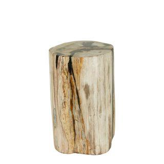 Binga Petrified Wood Stool 40cm