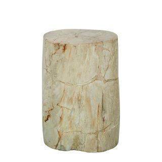 Binga Petrified Wood Stool 50cm