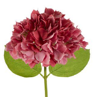 Hydrangea Stem Soft Touch 50cm Dark Pink