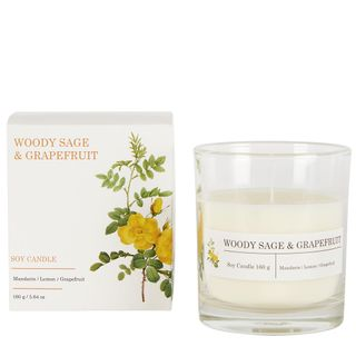 Woody Sage & Grapefruit Soy Candle 160g