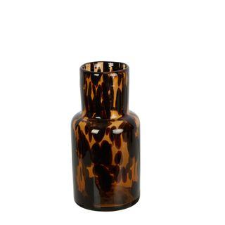 Tortoise Shell Glass Vase Small