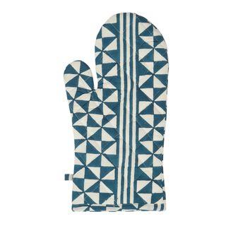 Malta Geo Stripe Cotton Single Oven Glove