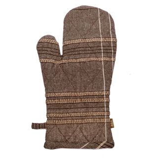 Textured Check Oven Glove Earth Brown