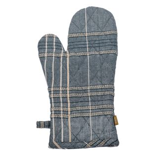 Textured Check Oven Glove Blueberry