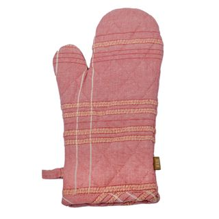 Textured Check Oven Glove Fig
