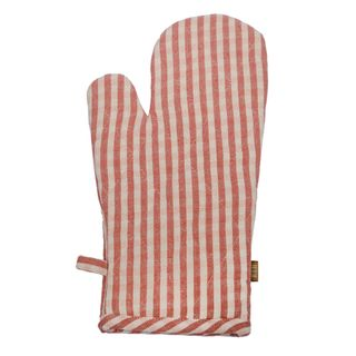 Gingham Oven Glove Fig