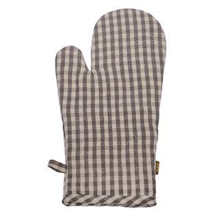Gingham Oven Glove Ash