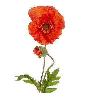 Poppy Stem 68cm Orange