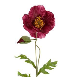 Poppy Stem 68cm Plum