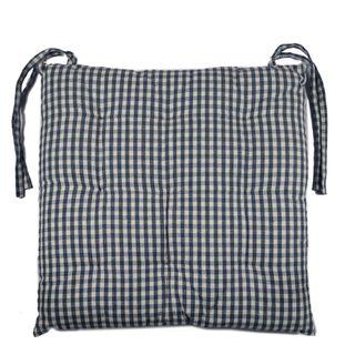 Gingham Seat Cushion Blueberry
