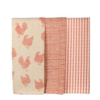 Henrietta Tea Towel Set 3 Fig