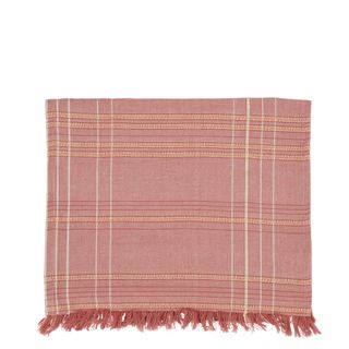 Textured Check Table Runner Fig