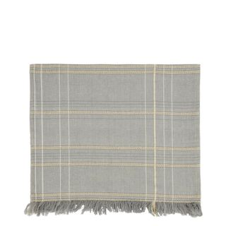 Textured Check Table Runner Ash