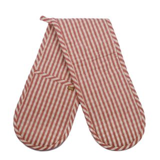 Gingham Double Oven Glove Fig