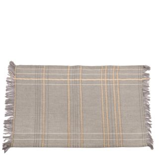 Textured Check Placemat Ash