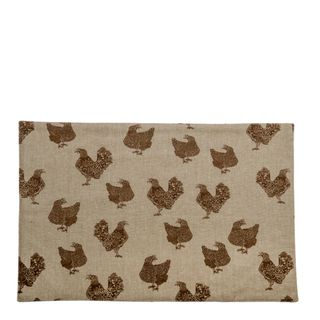 Henrietta Placemat Set Of 4  Earth Brown