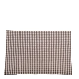 Gingham Placemat Set Of 4  Ash
