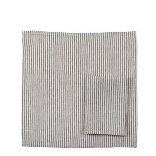 Linen Stripe Napkin Storm