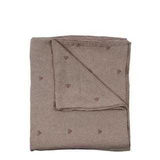 Mason Bee Linen Tablecloth Stone