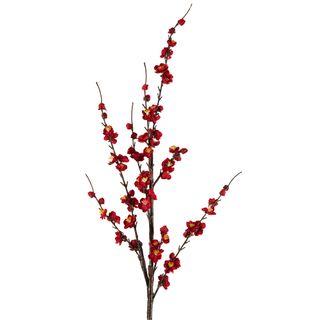 Japonica Blossom Stem Red