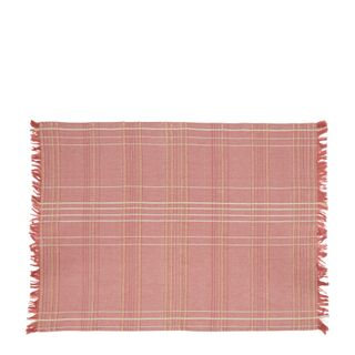 Textured Check Tea Towel Fig