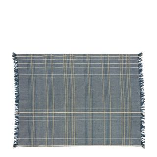 Textured Check Tea Towel Blueberry