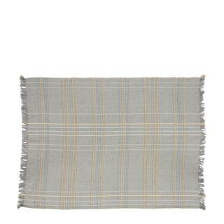 Textured Check Tea Towel Ash