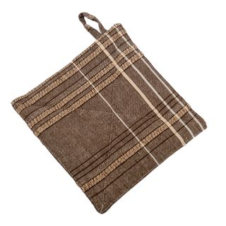 Textured Check Pot Holder Earth Brown