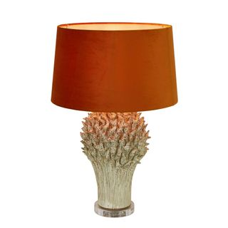 Staghorn Coral Ceramic Table Lamp Base White