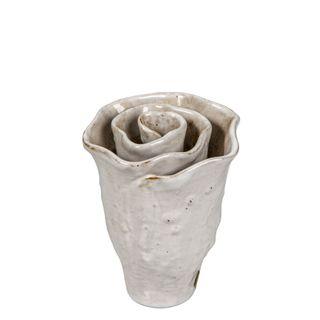 Rose Vase Small White