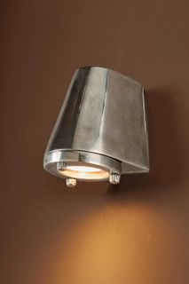 Seaman Outdoor Wall Light without Glass Antique Silver