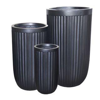 Comores Planter Set of 3 Black