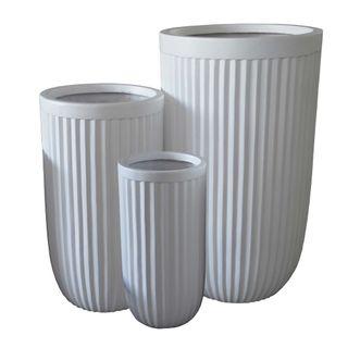 Comores Planter Set of 3 White