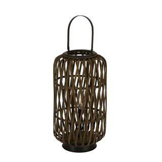 Samana Bamboo Battery Operated Lantern Small