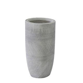 Vetro Ridged Pot Small White